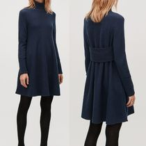 """COS"" LAMBSWOOL KNIT A-LINE DRESS NAVY"