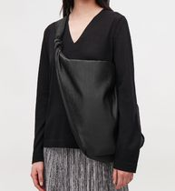 """COS"" LARGE PLISSE SHOULDER BAG BLACK"