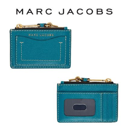 Marc Jacobs ブルー The Grind ジップ カードケース *国内発送*