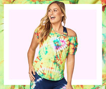 ◆2月新作◆Tie Dye For Zumba Tee(Caution)
