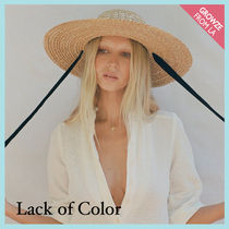 【Lack of Color】2色リボン付 ストローハット Dolce Sun Hat