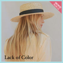 【Lack of Color】黒リボン ストローハット Rico Straw Boater