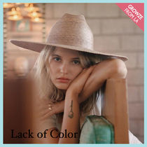 【Lack of Color】パームリーフハット Western Wide Palma