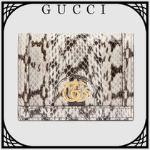 GUCCI 〔Ophidia〕スネークレザー カードケース 直営店 送料込