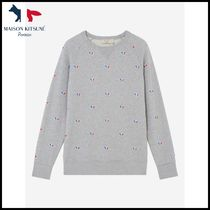 MAISON KITSUNE★SWEATSHIRT ALL-OVER TRICOLOR★トレーナー