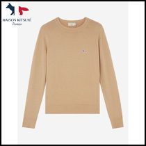 MAISON KITSUNE★VIRGIN WOOL R-NECK PULLOVER★セーター