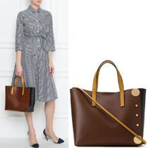 M574 CALF LEATHER PUNCH TOTE BAG
