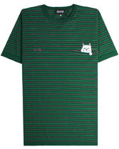 RIPNDIP Peeking Nermal Knit T-Shirt - Green リップンディップ