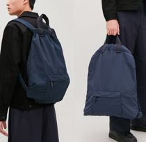"""COS MEN""TECHNICAL DRAWSTRING BACKPACK NAVY"