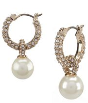 特価! Ralph Lauren   レディース Gold Pearl Drop Hoop ピアス