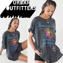Urban Outfitters(アーバンアウトフィッターズ) Tシャツ・カットソー ● Urban Outfitters ●人気 World Series オーバーサイズ T 黒
