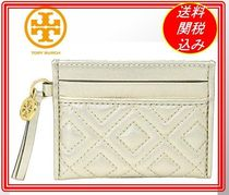 関税.送料込 Tory Burch Fleming Metallic Slim 名刺入れ