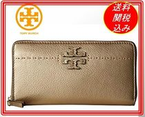 関税.送料込 Tory Burch McGraw Metallic  Continental 長財布
