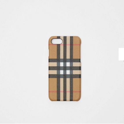 Burberry スマホケース・テックアクセサリー BURBERRY Vintage Check and Leather iPhone 8 Case(2)