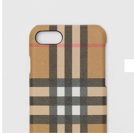 Burberry スマホケース・テックアクセサリー BURBERRY Vintage Check and Leather iPhone 8 Case(3)