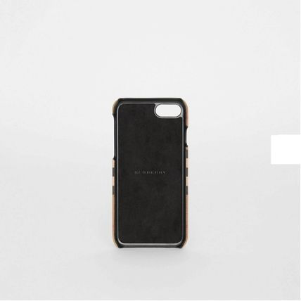 Burberry スマホケース・テックアクセサリー BURBERRY Vintage Check and Leather iPhone 8 Case(4)