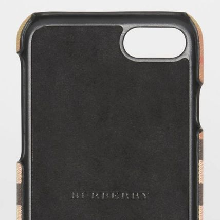 Burberry スマホケース・テックアクセサリー BURBERRY Vintage Check and Leather iPhone 8 Case(5)