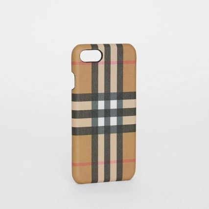 Burberry スマホケース・テックアクセサリー BURBERRY Vintage Check and Leather iPhone 8 Case(6)