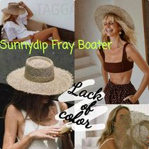 日本未★Lack of Color★ Sunnydip Fray Boater /関税送料無料
