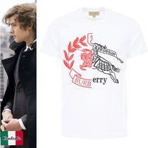 バーバリー T-Shirt With Contrast Crests