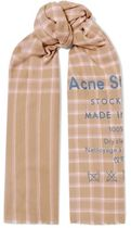 ★関税負担★ACNE STUDIOS★CASSIAR PRINTED CHECKED WOOL SCARF