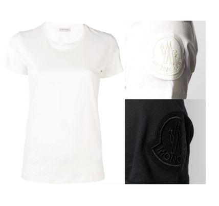 MONCLER Tシャツ・カットソー 【関税込】新作◆MONCLER モンクレール◆袖ロゴ Tシャツ 2色