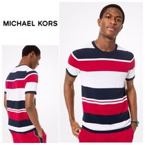 【MICHAEL KORS】☆新作☆Mixed Stripe Short-Sleeve Pullover