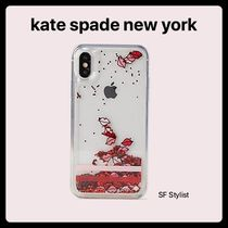 Kate Spade★グリッターリップ glitter iPhone X/XS, XR, XS MAX