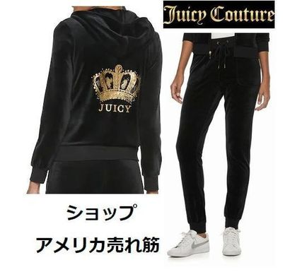JUICY COUTURE セットアップ 【追跡付発送】JUICY COUTURE☆セットアップ(黒クラウン)