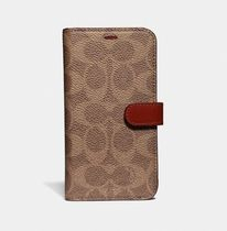 Coach ◆ 39598 iPhone X Max folio Signature Leather