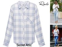 セレブ愛用&国内発送★Rails Hunter Blue White Peach Shirt