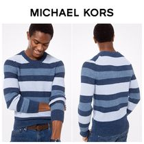 【MICHAEL KORS】☆新作☆Striped Ribbed Cotton Pullover