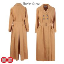 forte forte(フォルテフォルテ) コート forte forte*lightweight cotton double-breasted trench coat