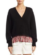 Carven Fringe Knit Cardigan カーディガン セール m