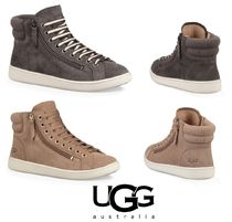 【大人気】UGG Olive Leather High-Top Sneaker