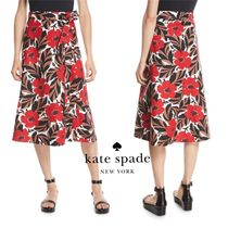 送料・関税込【kate spade new york】poppy field wrap skirt