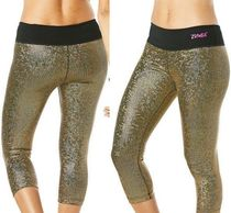 キラキラ!☆ZUMBA☆LightUpTheDancefloorMetallicCapriLeggings