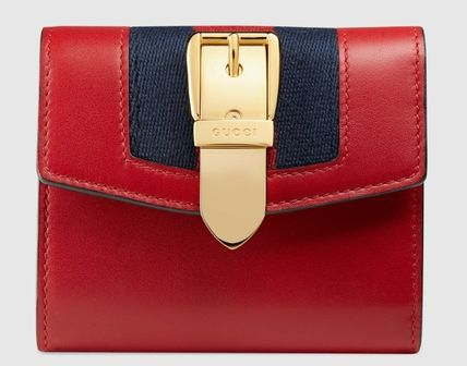 timeless design 484d3 2832c GUCCI 小さいふスモールウォレットゴールドバックル/Hibiscusred