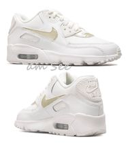 【NIKE】大人もOK♪AIR MAX 90 LTR GS スニーカー white x gold