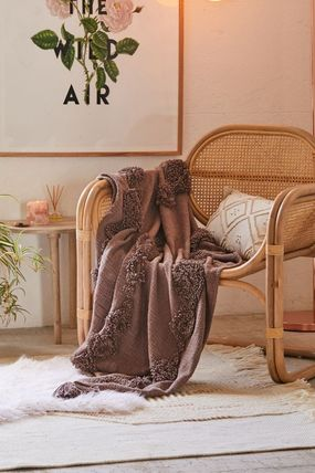 Urban Outfitters ブランケット 【UrbanOutfitters】☆日本未入荷☆ Rosie Tufted Throw Blanket(12)