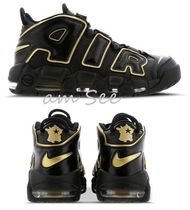 【NIKE】AIR MORE UPTEMPO '96 スニーカー ビッグロゴ 黒×Gold