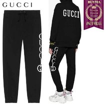 【正規品保証】GUCCI★19春夏★JOGGING PANTS WITH GUCCI PRINT