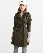 即発送【Abercrombie&Fitch】 TRENCH COATトレンチコート(S)