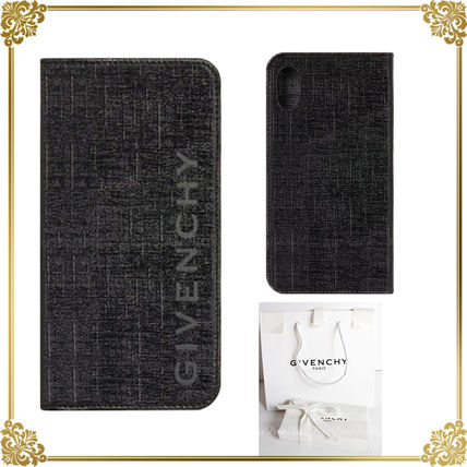 GIVENCHY スマホケース・テックアクセサリー 国内発☆GIVENCHY 防水加工キャンバス地 ロゴPhoneケース/X XS用