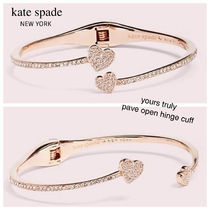 ★Kate spade★国内入手困難★ハートブレスレットyours truly open cuff