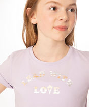 【 Ever Easy Tee 】★ SV/Lead With Love White Rose Gold Foil