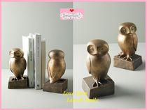 19SS☆最安値保証*関送料込【Anthro】Wise Owl Book Ends 2点SET