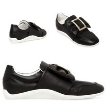 ROGER VIVIER スニーカー 10MM SPORTY VIV BOW LEATHER SNEAKERS