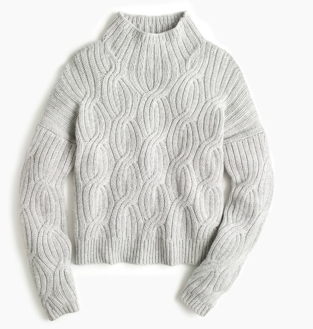 J Crew 2018 19FW Cable Knit Cashmere Long Sleeves Turtlenecks