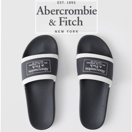 Abercrombie & Fitch サンダル Abercrombie&F*国内発送(追跡有)送関込*ロゴスライドサンダル